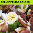 Scrumptious Salads by Kicking Carbs' M. Rasaay